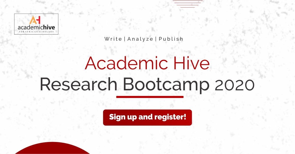 Academic Hive Research Bootcamp 2020 for Scholars