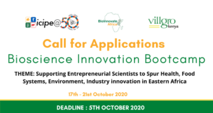 call for applications bioscience innovation bootcamp 2020 for entrepreneurial scientists in eastern africa 310x165 - Call for Applications: Bioscience Innovation Bootcamp 2020 for Entrepreneurial Scientists in Eastern Africa