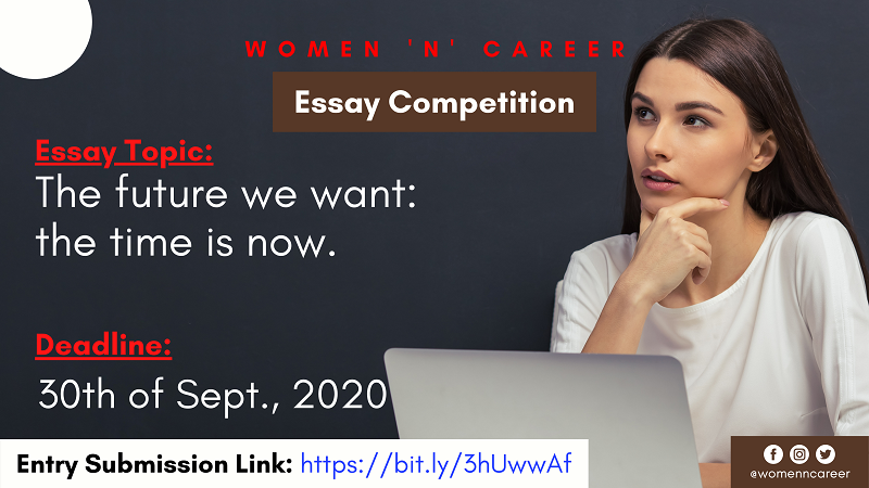 "Women and Career ""Our Voice, Our Equal Future"" Essay Competition 2020"